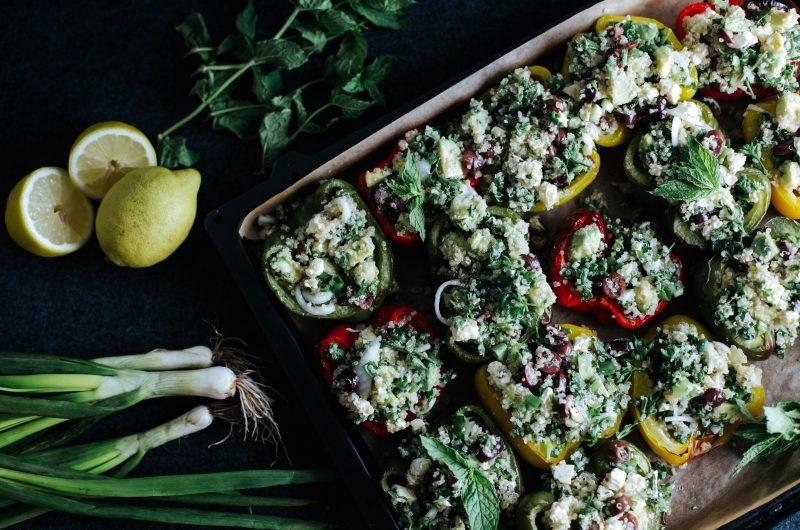 Poivrons farcis au quinoa / Quinoa Stuffed bell peppers