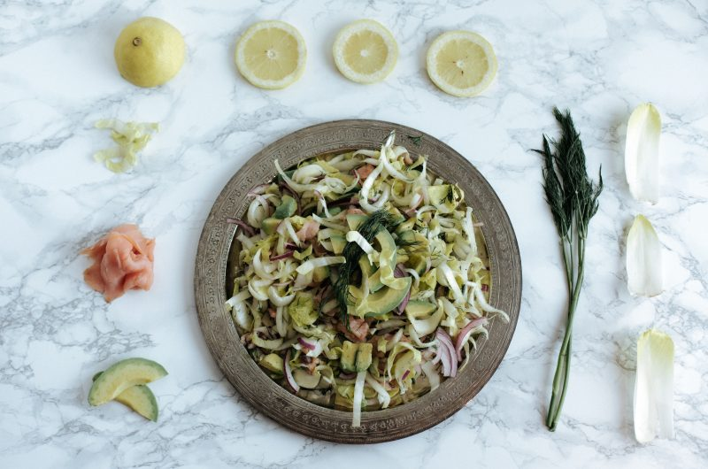 Salade d'endives et saumon fumé / Chicory and smoked salmon salad