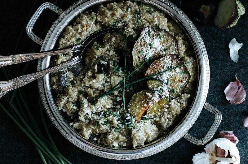 Quinotto à l'Aubergine / Eggplant Quinotto