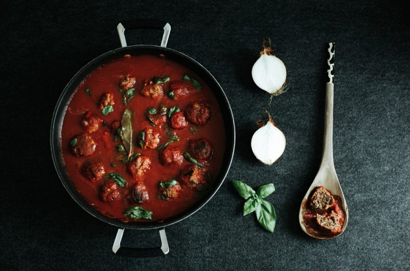 Boulettes Sauce Tomates / Meatballs in Tomato Sauce