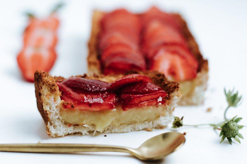 Tarte aux fraises sans lactose et sans gluten / Dairy-free, gluten-free strawberry pie